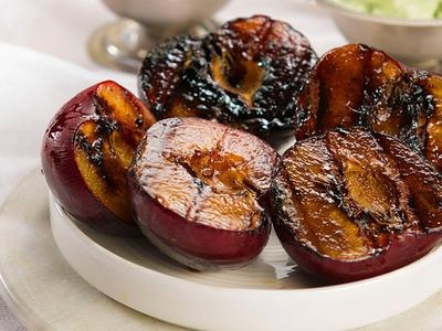 Grilled Season Fruit with Gelato Recipe