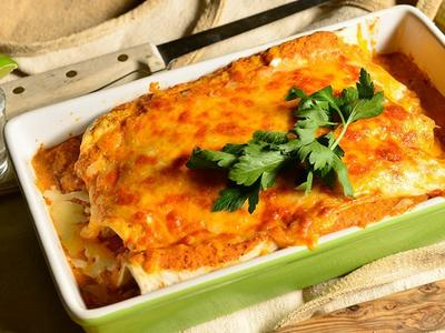 Pulled Pork Enchiladas with Smoke-Roasted Red Sauce Recipe