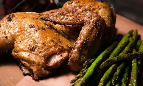 Smoke Roasted Chicken with Herb Butter