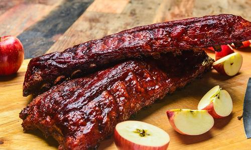Bacon-Rubbed Applewood Smoked Ribs