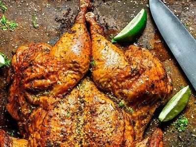 Spatchcocked Chile-Lime Rubbed Chicken Recipe