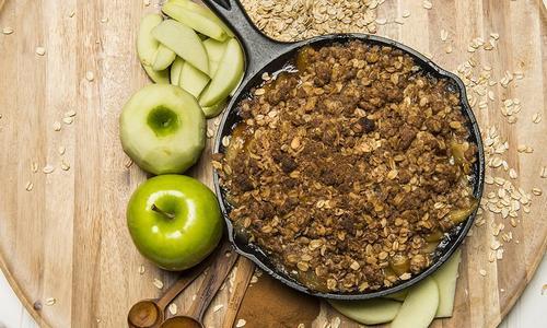 Baked Caramel Apple Crisp