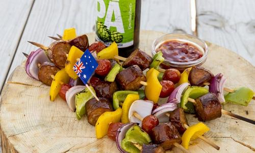 Sausage Pepper Skewers