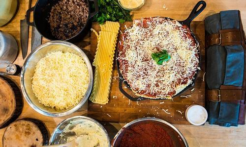 Traegered Lasagna