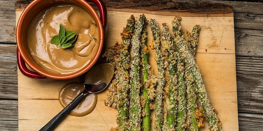 image of Asparagus Fries with Balsamic Mayo Sauce