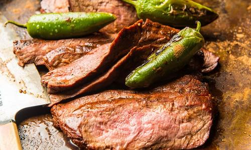 Cocoa Crusted Grilled Flank Steak