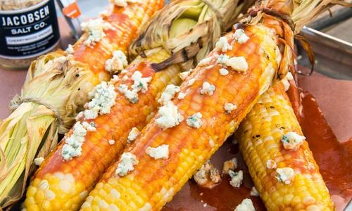 Grilled Buffalo Blue Cheese Corn