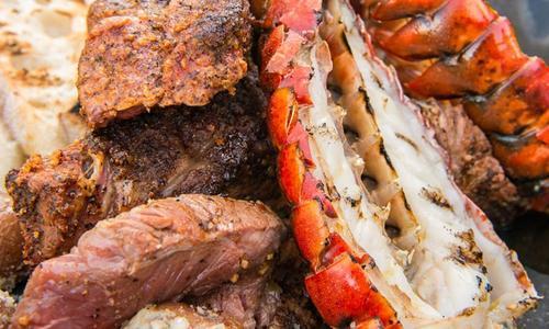 Reverse Sear Rib Eye Steak With Lobster