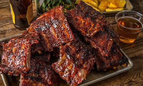 BBQ Baby Back Ribs with Bacon Pineapple Glaze by Scott Thomas