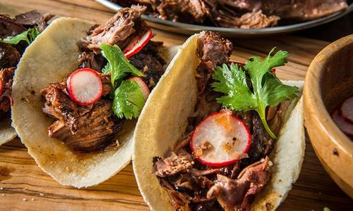 Braised Lamb Shoulder Tacos by Chef Matthew Jennings