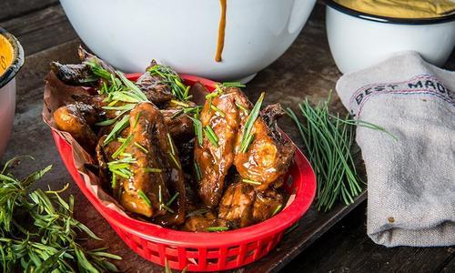 Smoked Mustard Wings by Chef Matthew Jennings