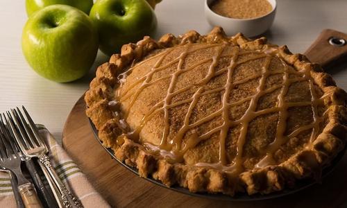 Smoked, Salted Caramel Apple Pie