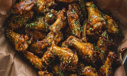 Grilled Sriracha Wings