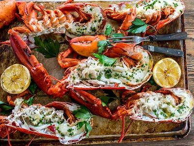 Grilled Lobster with Lemon Garlic Butter Recipe