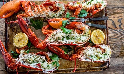 Grilled Lobster with Lemon Garlic Butter