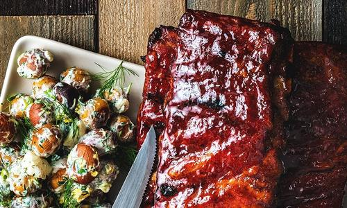 BBQ Spare Ribs With Warm Potato Salad