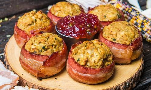 Turkey Stuffing Bacon Balls