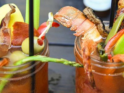 Smoked Bloody Mary With Grilled Garnishes Recipe