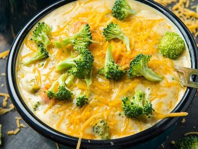 Roasted Broccoli Cheese Soup Recipe