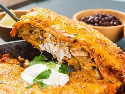 Roasted Chicken Enchiladas