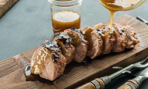 Roasted Maple-Dijon Pork Tenderloin