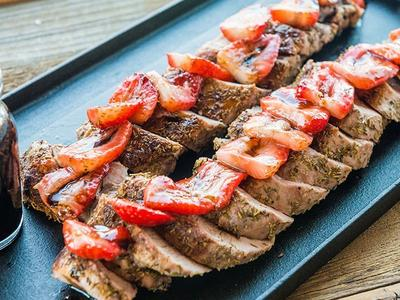 Roasted Pork With Balsamic Strawberry Sauce Recipe