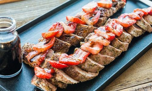 Roasted Pork With Balsamic Strawberry Sauce