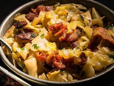 Beer-Braised Cabbage With Bacon Recipe