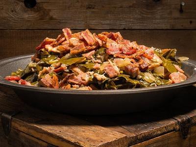 Braised Collard Greens & Bacon Recipe