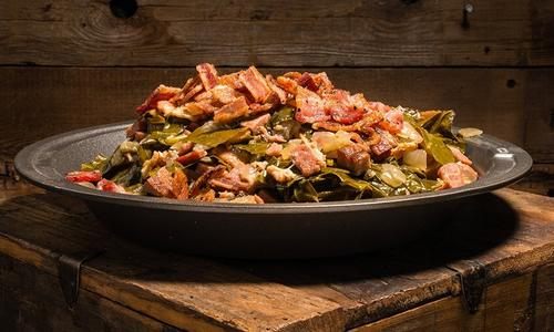 Braised Collard Greens & Bacon