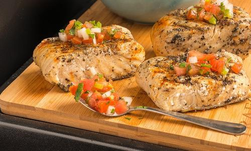 Jamaican Jerk Grilled Halibut With Pico De Gallo