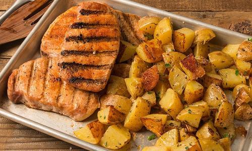Seared BBQ Pork Chop