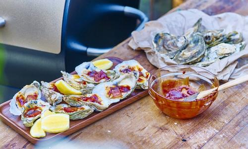 BBQ Oysters With Bacon By Chef Tyler Florence
