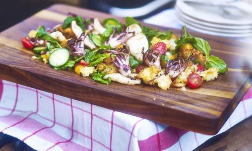Grilled Calamari Panzanella
