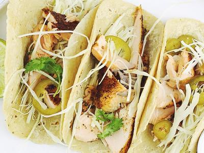 Grilled Salmon Tacos with Smoked Tomato Salsa by Daniel Seidman Recipe