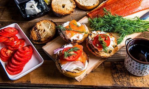 Smoked Steelhead Breakfast Sandwich