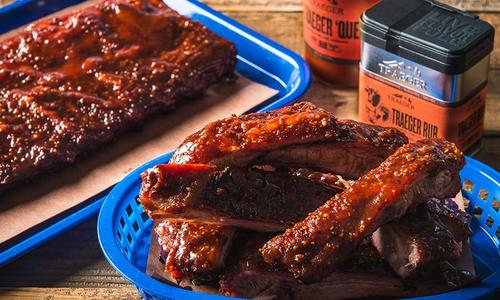 St Louis Style BBQ Ribs with Texas Spicy BBQ Sauce