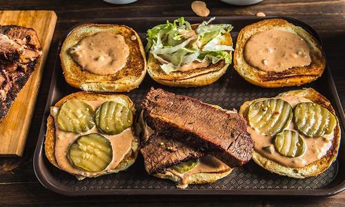BBQ Brisket Sandwich With Special Sauce