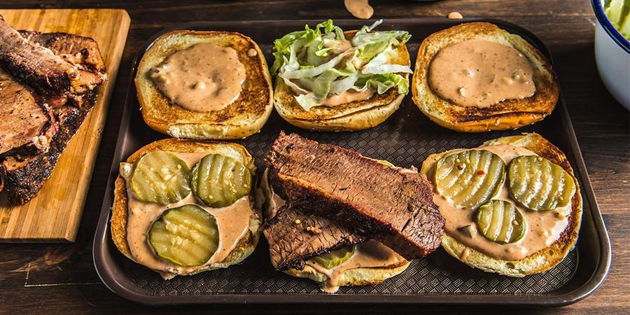 image of BBQ Brisket Sandwich With Special Sauce