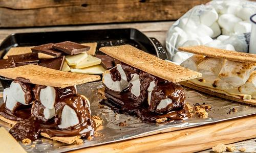 Baked S'mores Platter