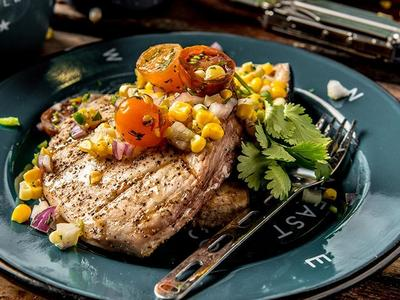 Grilled Swordfish with Corn Salsa Recipe