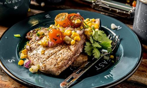 Grilled Swordfish with Corn Salsa