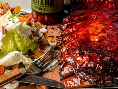 BBQ Spare Ribs with Classic Wedge Salad Recipe