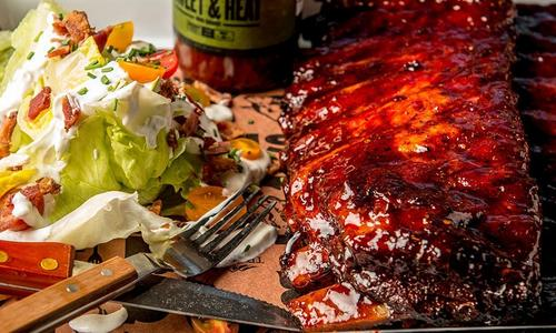 BBQ Spare Ribs with Classic Wedge Salad