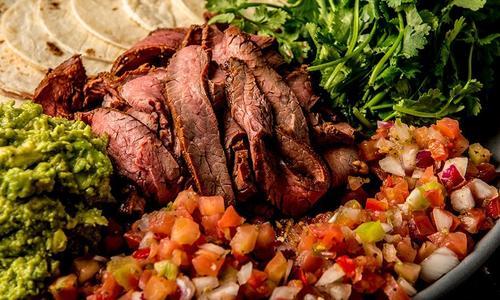 Grilled Elk Flank Carne Asada