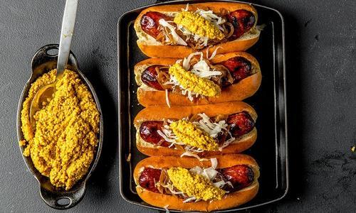 Smoked Bratwurst With Homemade Mustard