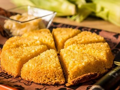 Baked Cornbread with Grilled Corn & Honey Butter Recipe