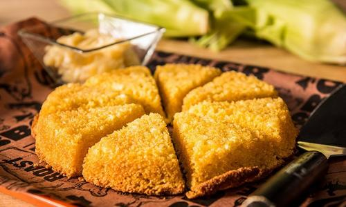 Baked Cornbread with Grilled Corn & Honey Butter