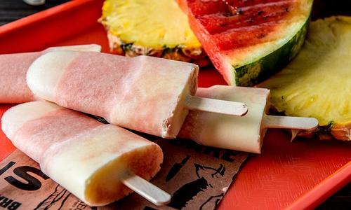 Grilled Pineapple & Watermelon Creamsicles