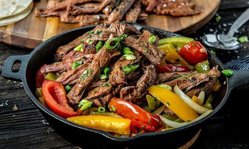 Sizzling Fajitas With Grilled Skirt Steak